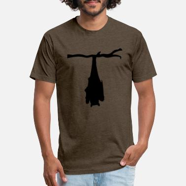 Asta tree branch hanging bat silhouette upside down bla - Unisex Poly Cotton T-Shirt