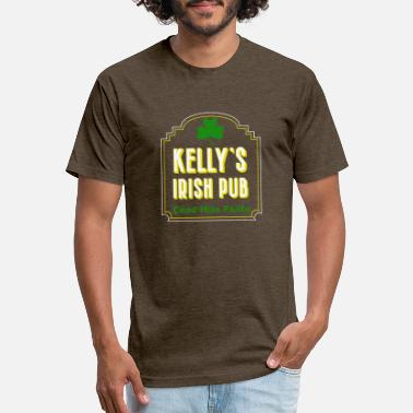 Irish Pubs Kelly's Irish Pub, Cead Mile Failte, Personalized - Unisex Poly Cotton T-Shirt