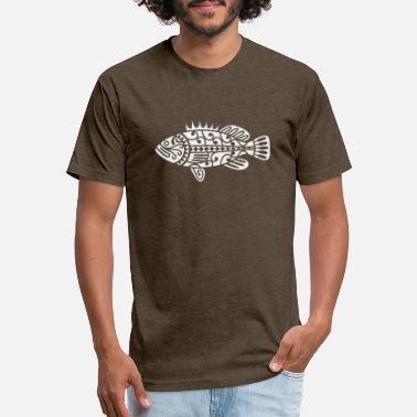 Maori Fish Maori White - Unisex Poly Cotton T-Shirt