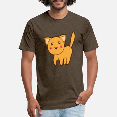 Bad Look Cute Bad Looking Cat - Unisex Poly Cotton T-Shirt