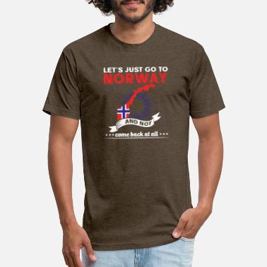 Lets Just Go To Lets just go to Norway - Unisex Poly Cotton T-Shirt