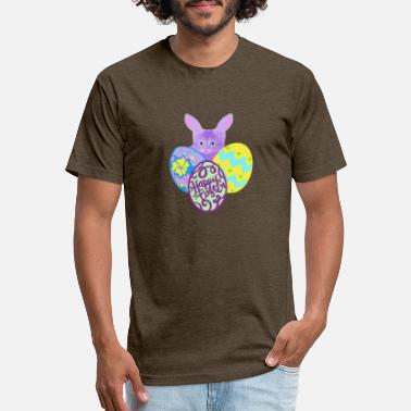 Rabbit Kitty mashup colorful pastel with detailed eggs - Unisex Poly Cotton T-Shirt