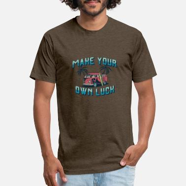 Luck Make your own luck - Unisex Poly Cotton T-Shirt