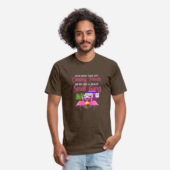 Camping T-Shirts - Womens We_re More Than Just Camping Friends We_re - Unisex Poly Cotton T-Shirt heather espresso