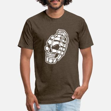 Grenadier Skull Grenade - Unisex Poly Cotton T-Shirt