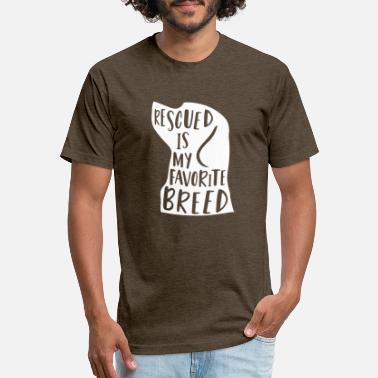 Shop Rescued is My Favorite Breed - Unisex Poly Cotton T-Shirt