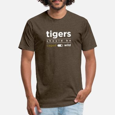 Minimalist Tigers should be wild - Unisex Poly Cotton T-Shirt