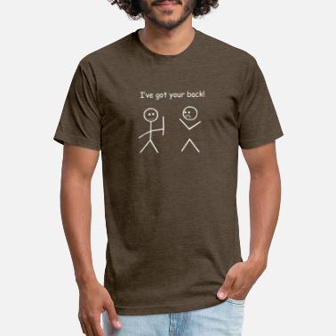 I ve Got Your Back Stickman Stickmen Funny Slogan - Unisex Poly Cotton T-Shirt