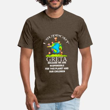 Thunberg I support Greta Fridays for Future - Unisex Poly Cotton T-Shirt