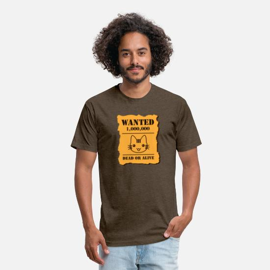 Danger T-Shirts - dangerous cat criminal kitty - Unisex Poly Cotton T-Shirt heather espresso