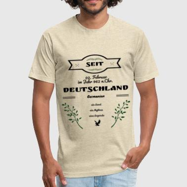 German Shirt Deutschland seit dem Jahr 962 - Fitted Cotton/Poly T-Shirt by Next Level