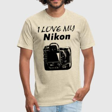 I love my NIKON - Fitted Cotton/Poly T-Shirt by Next Level