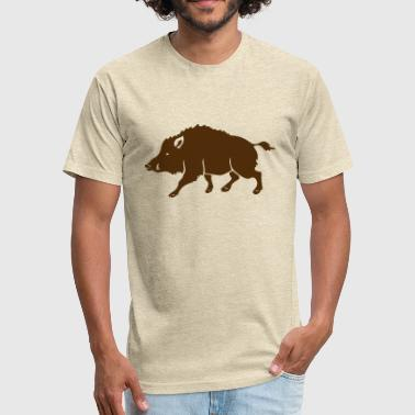 Wild boar - Fitted Cotton/Poly T-Shirt by Next Level
