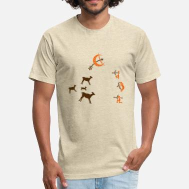 Caving Cave, cave painting, hunter, survival - Fitted Cotton/Poly T-Shirt by Next Level