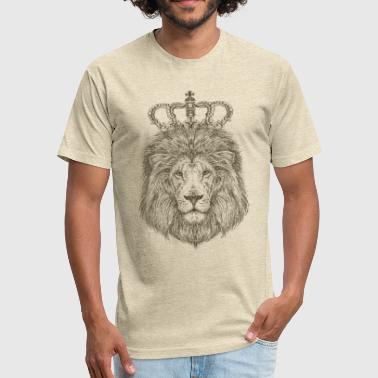 Great Anime The lion king, great animal funny - Fitted Cotton/Poly T-Shirt by Next Level