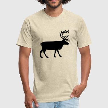 Stag - Fitted Cotton/Poly T-Shirt by Next Level