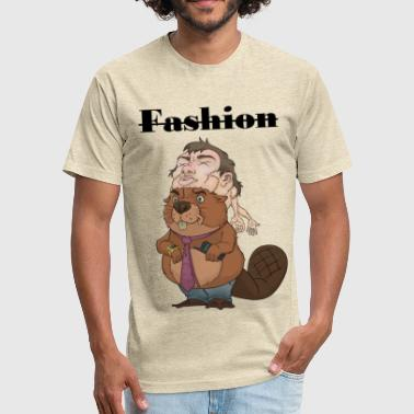 Fucked Animation Fuck animal fashion 2 - Fitted Cotton/Poly T-Shirt by Next Level