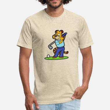 Golf Comic Golf - Fitted Cotton/Poly T-Shirt by Next Level