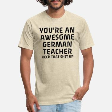 German Flag You're An Awesome German Teacher - Unisex Poly Cotton T-Shirt