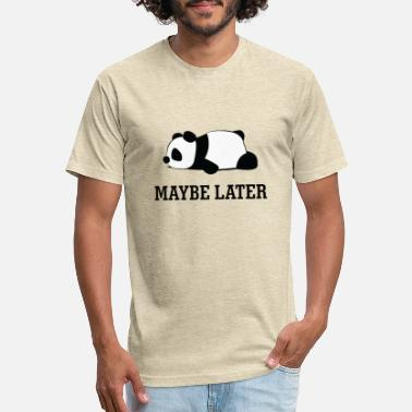 Later Maybe later. Cartoon character panda. - Unisex Poly Cotton T-Shirt