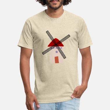 Crooked Crooked windmill 3 - Unisex Poly Cotton T-Shirt