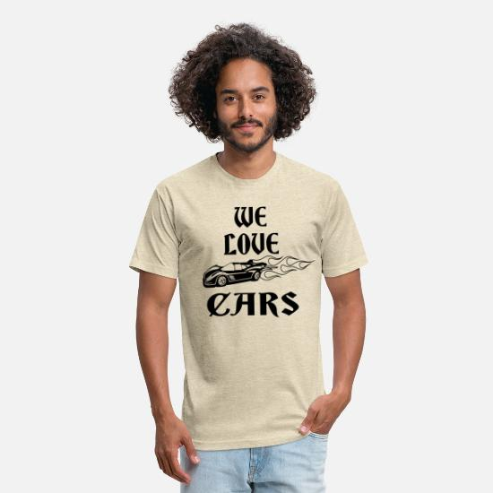 Motor T-Shirts - we love cars - Unisex Poly Cotton T-Shirt heather cream