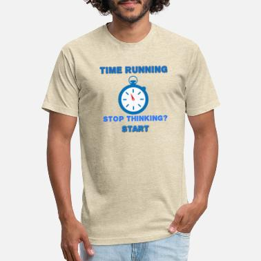 Running time designer T-shirt - Unisex Poly Cotton T-Shirt