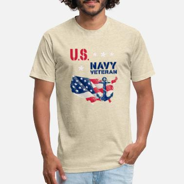 Us Navy Veteran United States Navy Tee Veteran Day - Unisex Poly Cotton T-Shirt