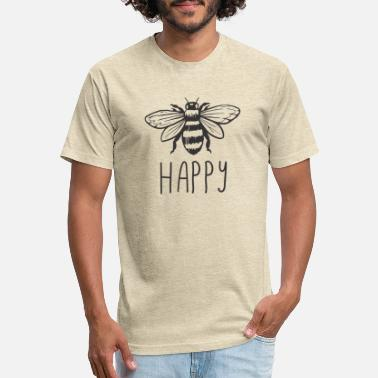 Bee Happy - Unisex Poly Cotton T-Shirt