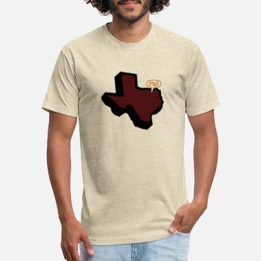 Texas Says Y'all - Maroon - Unisex Poly Cotton T-Shirt