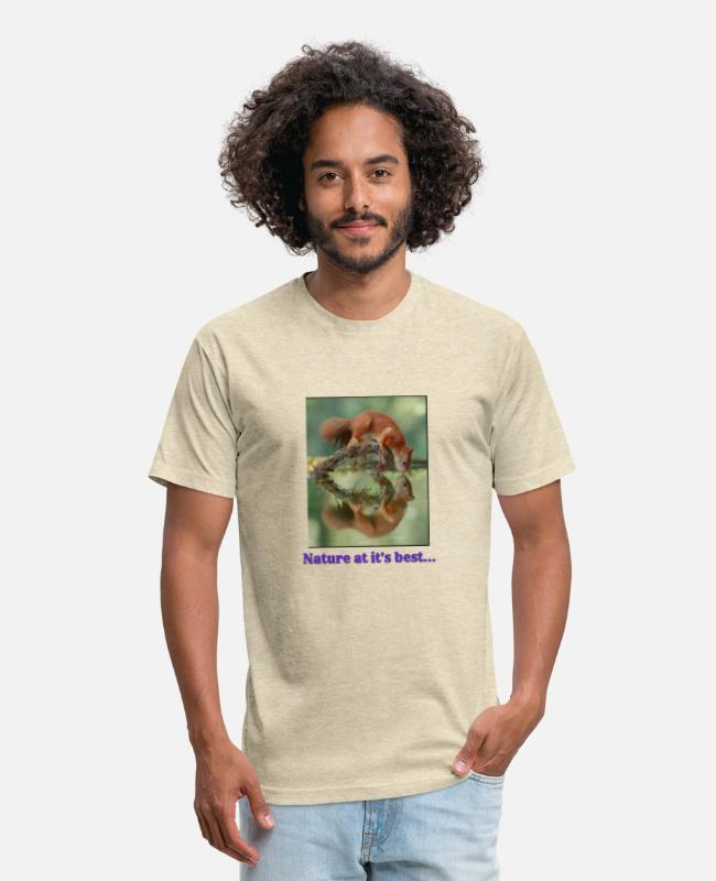 Nature T-Shirts - Nature at its best - Unisex Poly Cotton T-Shirt heather cream