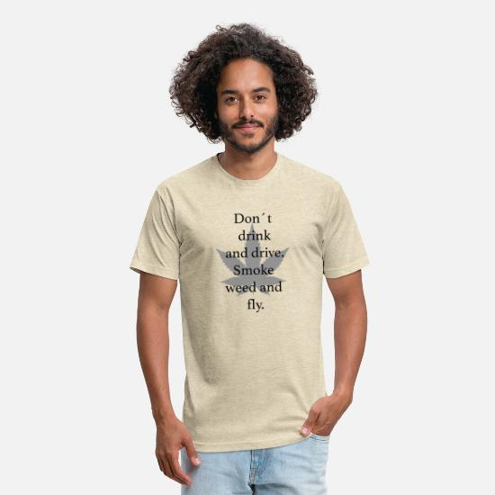 Pothead T-Shirts - Smoke weed - Unisex Poly Cotton T-Shirt heather cream
