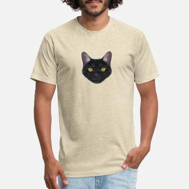 Domestic Cat Black Domestic Cat - Unisex Poly Cotton T-Shirt