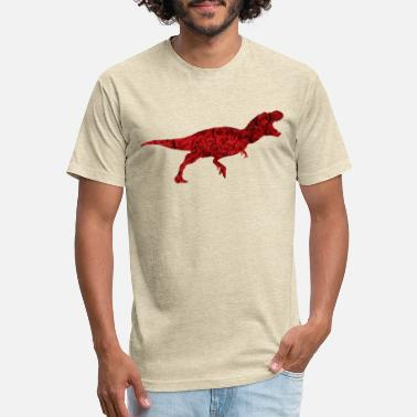 Red Dinosaur Dinosaur Rose Flower Gift - Unisex Poly Cotton T-Shirt