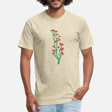Asta flower grass branch branches plant tree bald witho - Unisex Poly Cotton T-Shirt