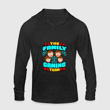 Gaming The Family Gaming Team Gaming Family - Unisex Tri-Blend Hoodie Shirt