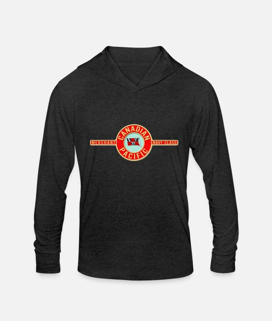 Shield Long-Sleeved Shirts - canadian pacific logo78 - Unisex Tri-Blend Hoodie heather black