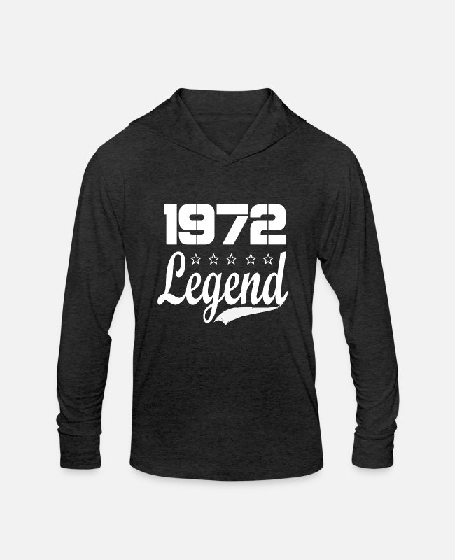 Legend Long-Sleeved Shirts - 72 Legend - Unisex Tri-Blend Hoodie heather black