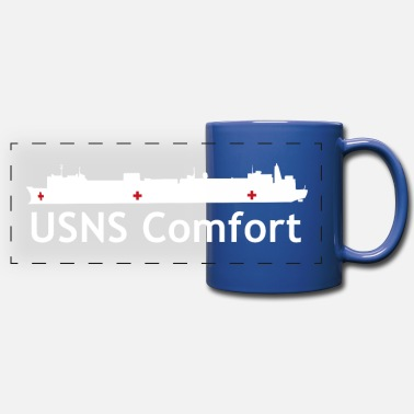 Usn USNS Comfort - Full Color Panoramic Mug