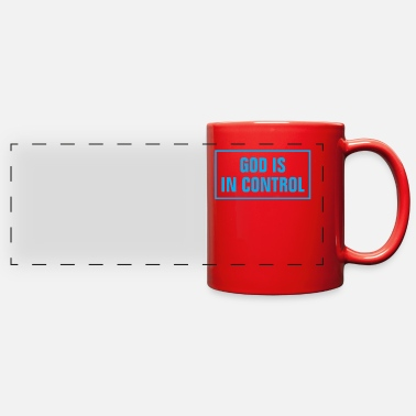Cross God Is In Control - Christian - Full Color Panoramic Mug