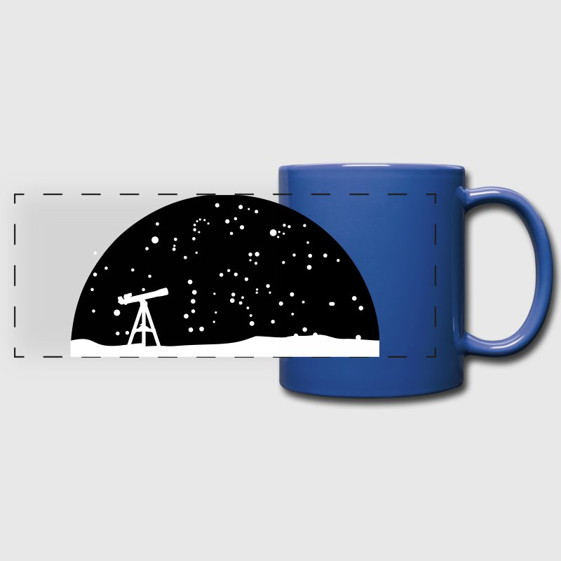 Astronomy, Telescope and starry night sky - Full Color Panoramic Mug