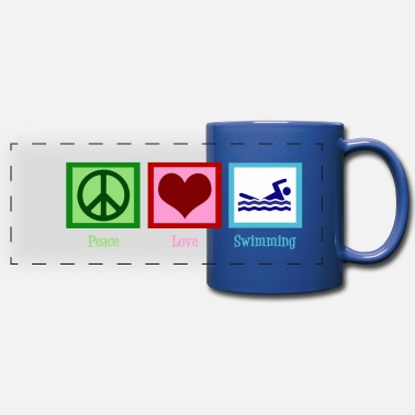 Swim Peace Love Swimming - Full Color Panoramic Mug