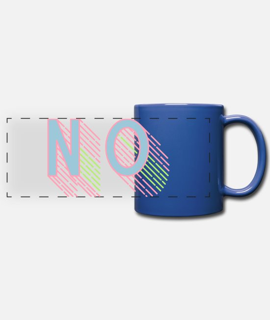 Stadium Mugs & Cups - no lettering anti demo again statement - Full Color Panoramic Mug royal blue