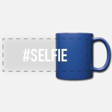 Selfie Hashtag Selfie - #Selfie - Selfie - Camera - Full Color Panoramic Mug
