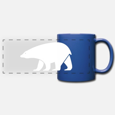 Form polar bear - Full Color Panoramic Mug