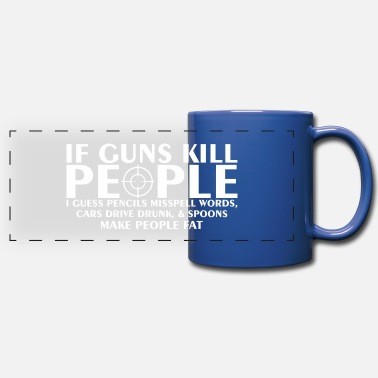 Drive Go By Car If Guns Kill People Pencil Mispell Cars Drive Drun - Full Color Panoramic Mug