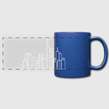 Skyline of Frankfurt - Full Color Panoramic Mug