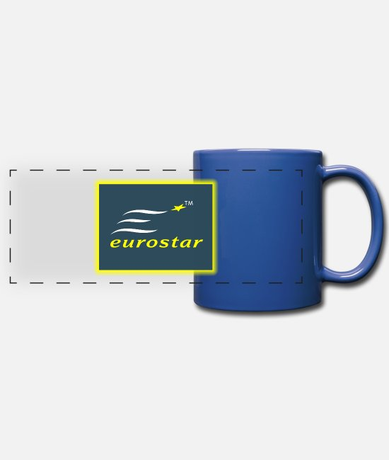 EU Mugs & Cups - Eurostar - Full Color Panoramic Mug royal blue