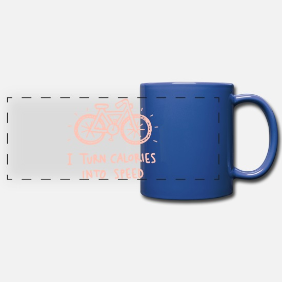 Fat Mugs & Drinkware - Calories - Full Color Panoramic Mug royal blue