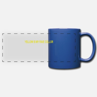 Fave YELLOW IS MY FAVE COLLOR - Full Color Panoramic Mug